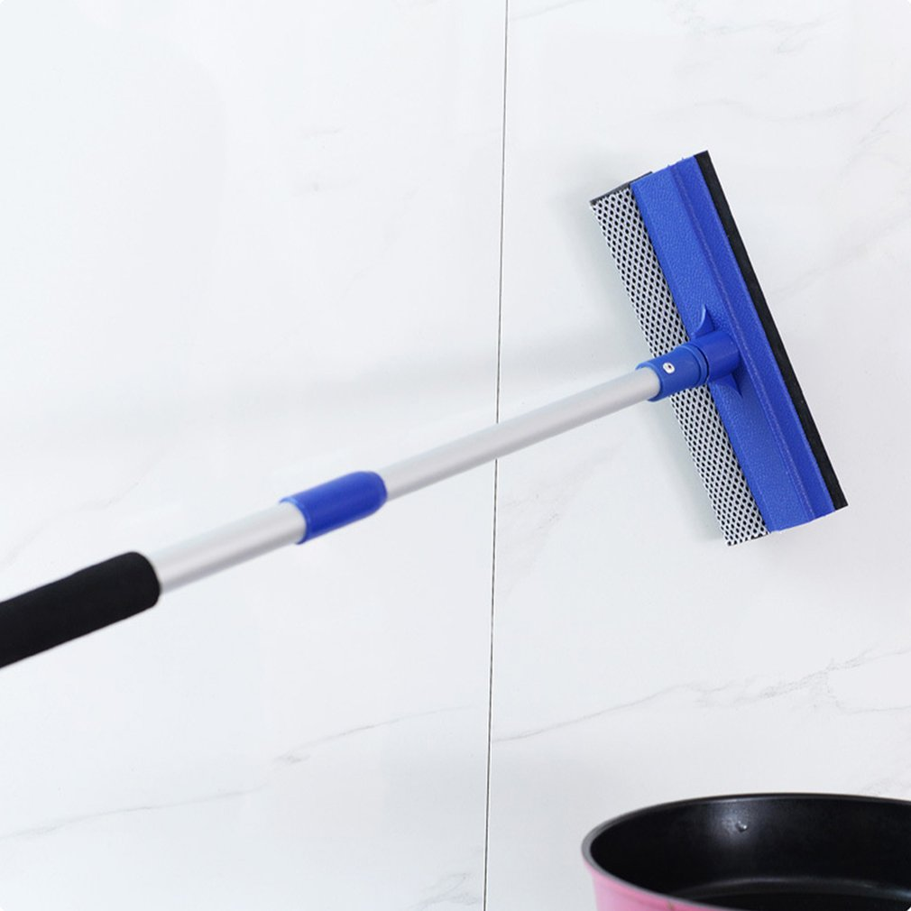 Telescopic Double Side Window Glass Cleaning Scraper Car Windshield Cleaner Anti-Skid Glass Wiper Tile Tablet Cleaner