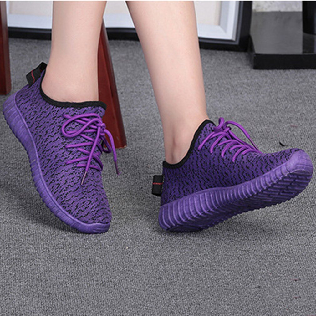 Summer Women Shoes Comfortable Girls Casual Breathable Knitted Flat Shoes