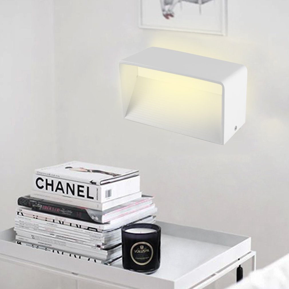 Modern Rectangle 6W LED Wall Sconces Light Wall Lamp for Bedroom Home Decor