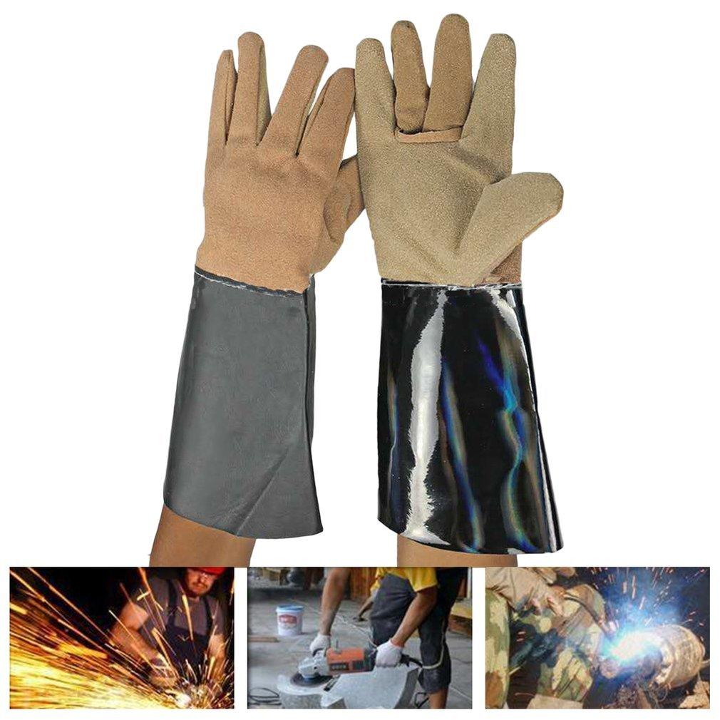 1 Pair Lengthening Electric Welding Soldering Industrial Gloves Working Gloves