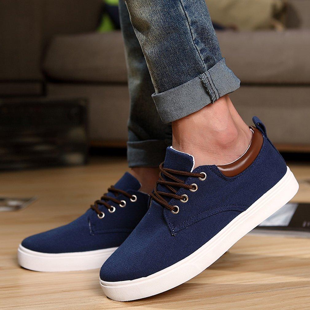 Canvas Casual Shoes Men Leisure Shoe Lace-Up Low Cut Footwears Solid Color