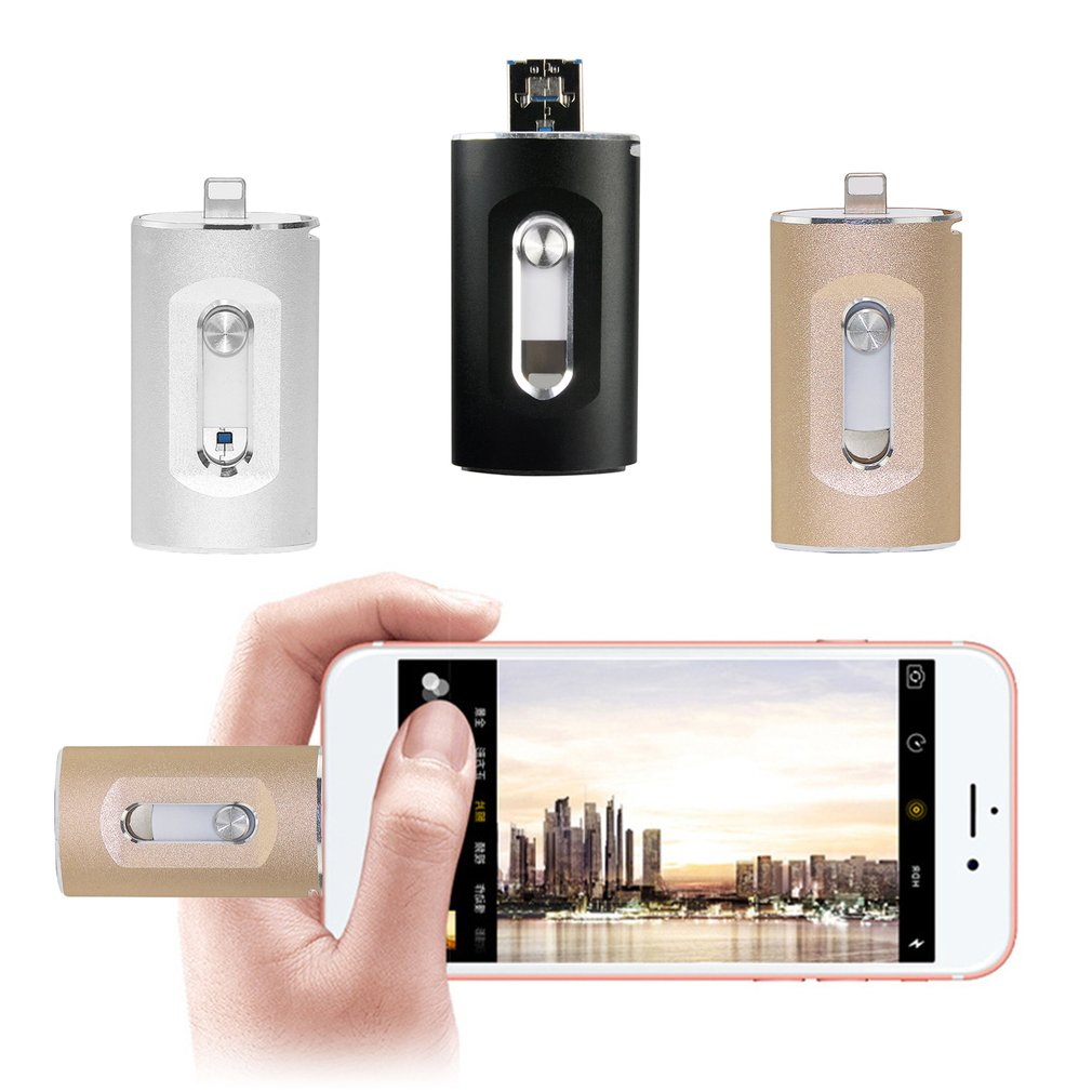 3-in-1 Flash Drive Micro-USB USB Memory Stick Pen Drive for iPhone PC Android