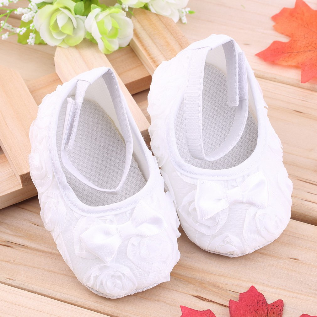 Infant Baby Girls Cute Princess Non-Slip Lace Toddler Shoes 3-12 Months
