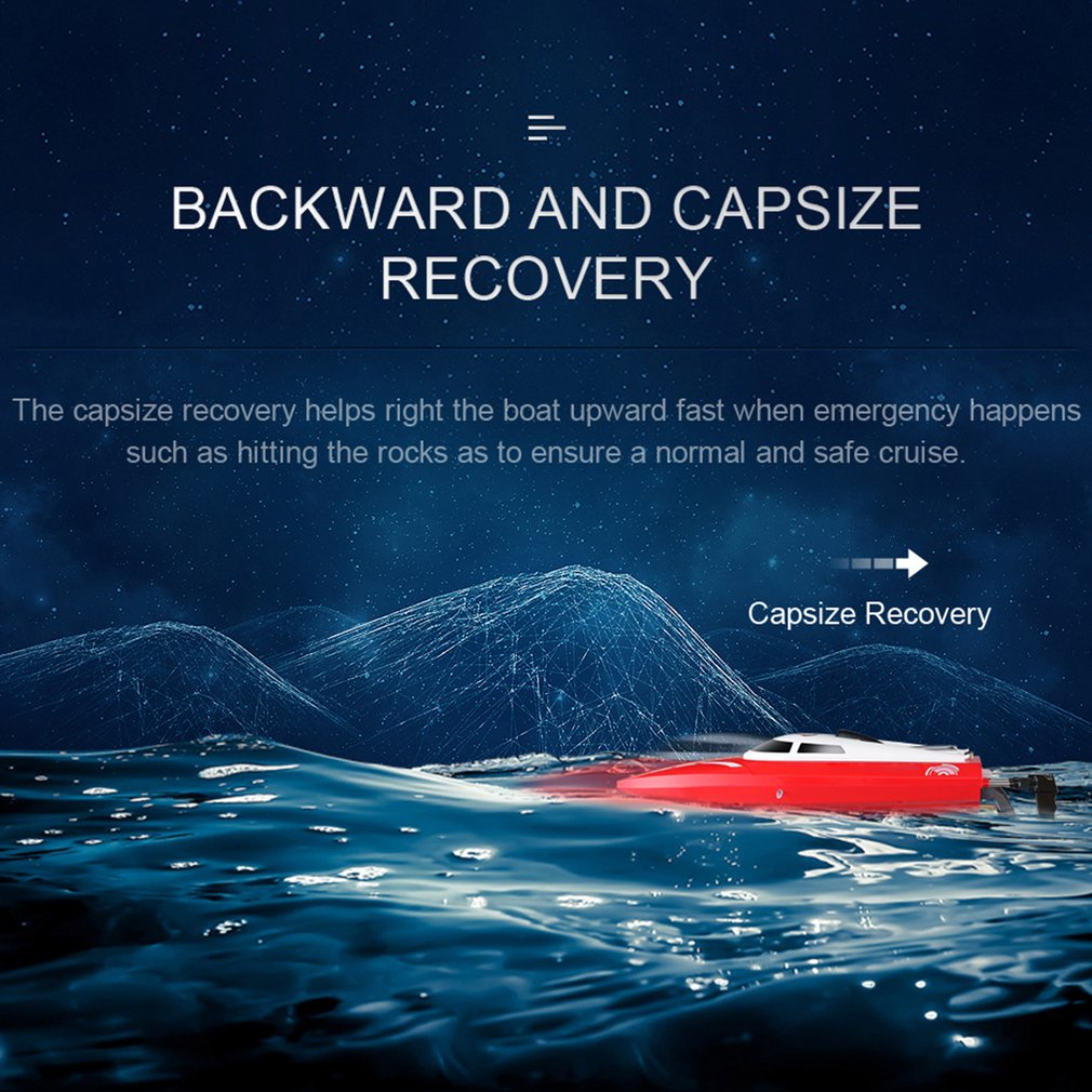 JJR/C S1 2.4G 25KM/h Self Righting Flip RC Racing Boat 150M Electric Ship RTR