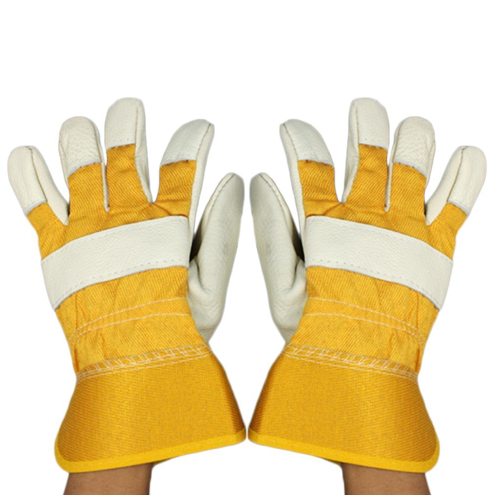Cowhide Electric Welding Soldering Gloves Safety Protective Working Gloves