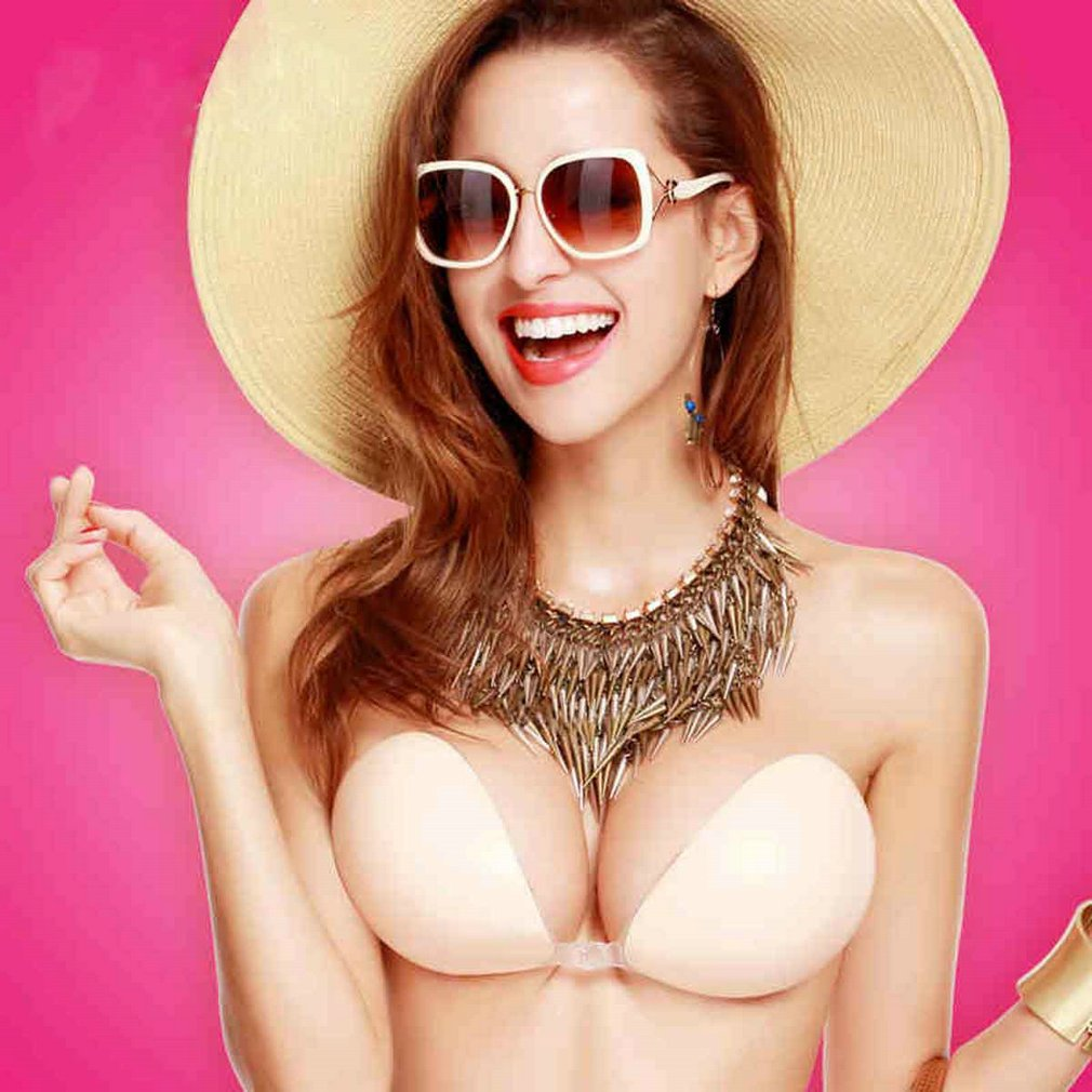 Sexy Silicone Adhesive Front Closure Push Up Strapless Invisible Bras