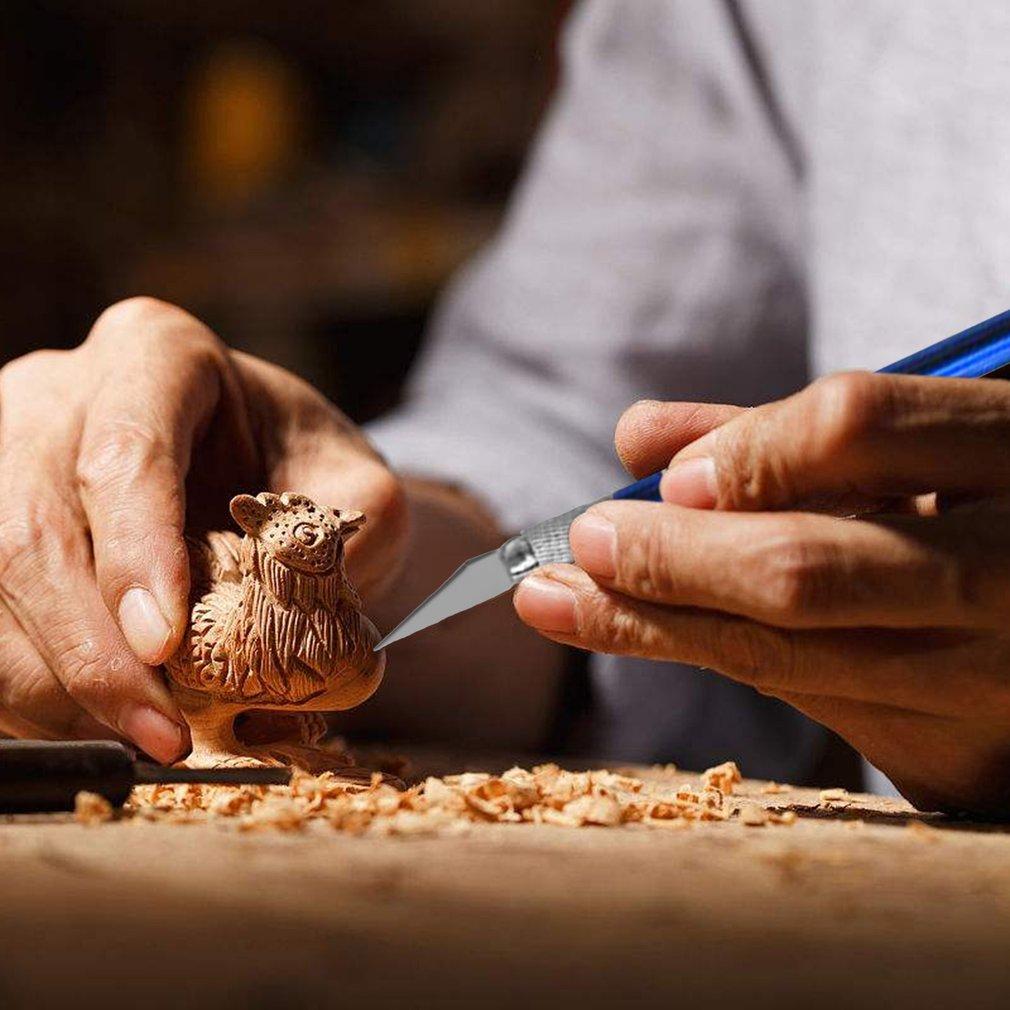 Stainless Steel Carving Knife Set DIY Art Wood Engraving Cutting Knife Set