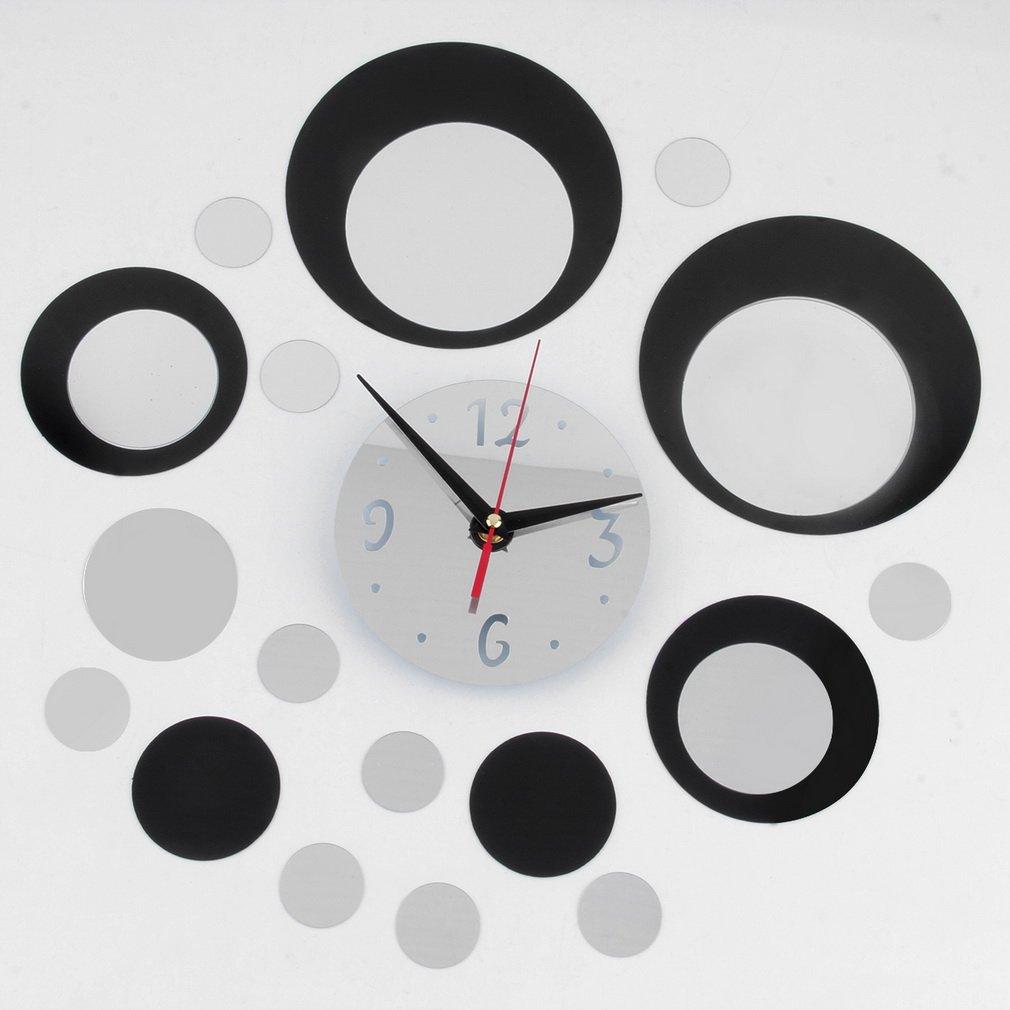 DIY Modern Acrylic Clock Mirror Wall Room Decal Decor Vinyl Art Sticker