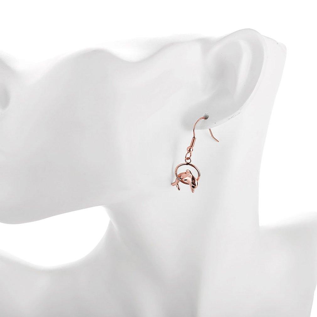 Fashion Female Ear Hook Studs Fine Painting Studs Earrings With Shark Pendant