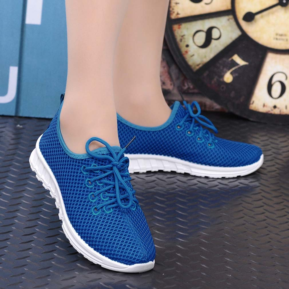Breathable Men Women Lovers Comfortable Casual Breathable Mesh Flat Shoes