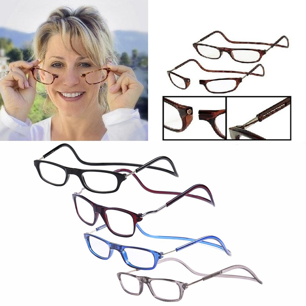1 Pcs Unisex Folded Hanging Magnetic Reading Glasses +1.5 +2.0 Strength