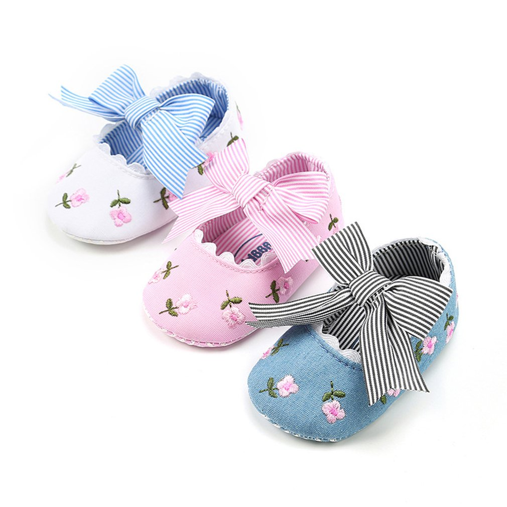 Lovely Girls Princess Shoes Soft Bottom Soled Non-slip Anti-skid Toddler Shoe