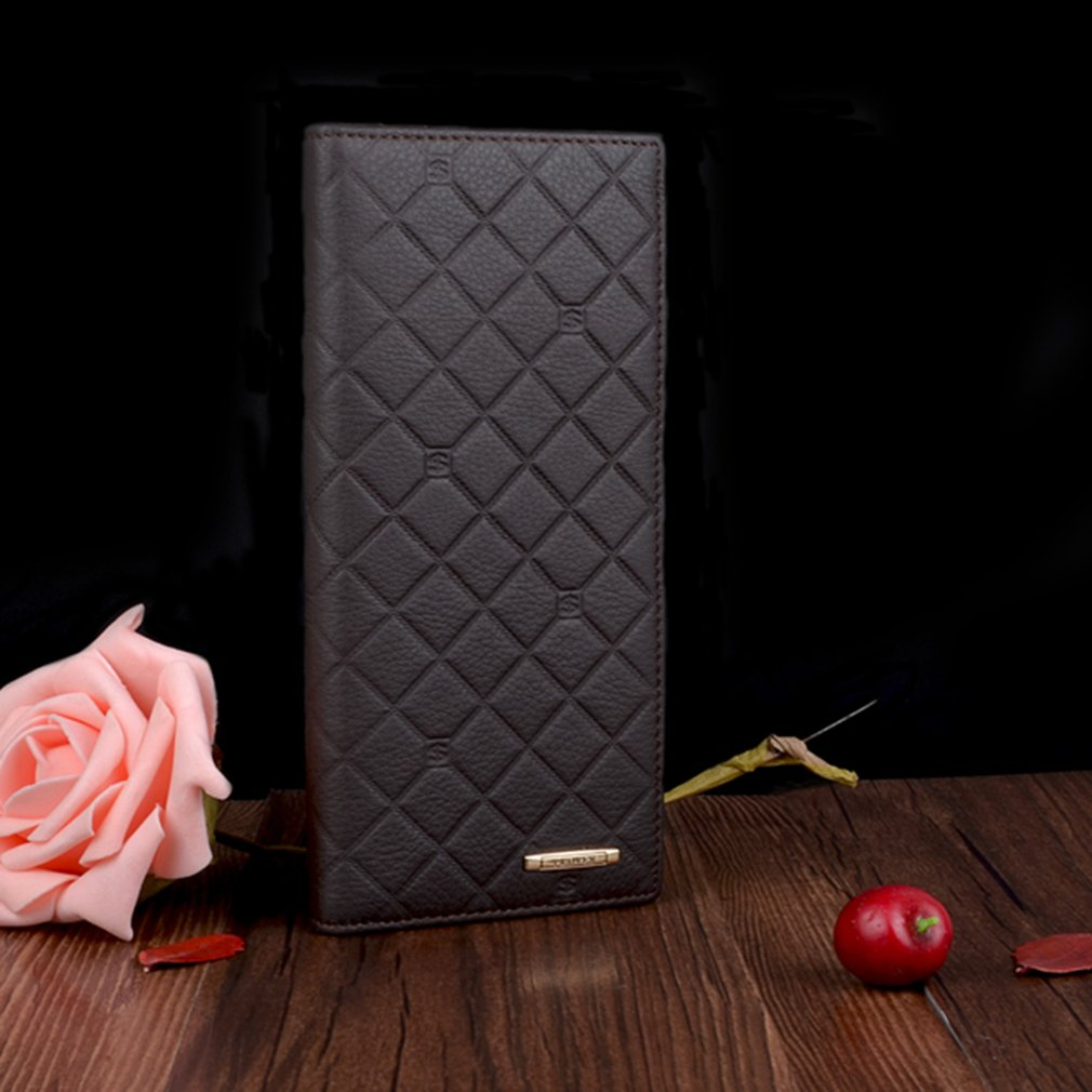 Women's Multi-Cards Slots Business Wallet, Black - Cow Leather