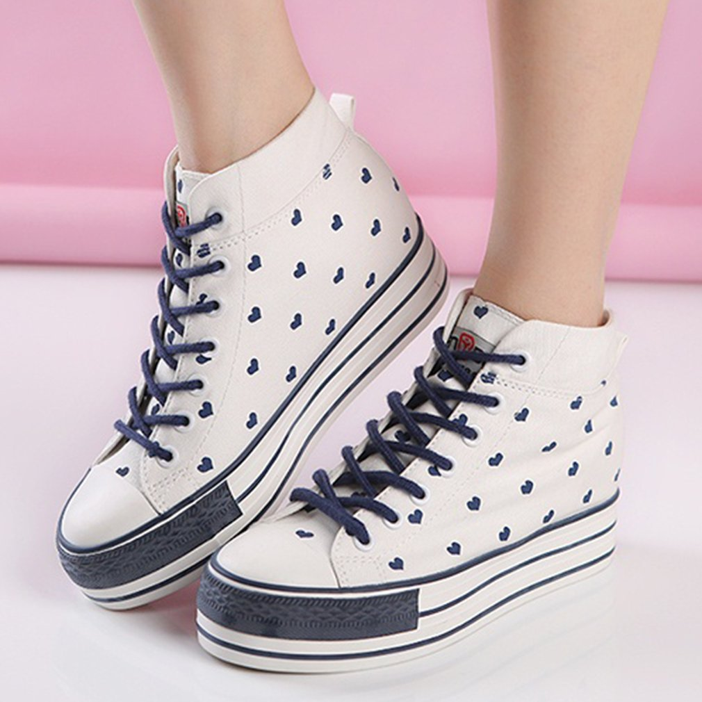 RENBEN Canvas Casual Shoes 3875 Women High Uppers Loafer Female Shoes For Lady