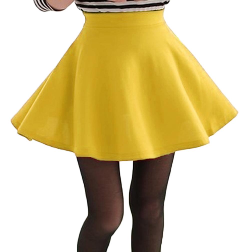 Women's Cute Flared Skirt, Yellow
