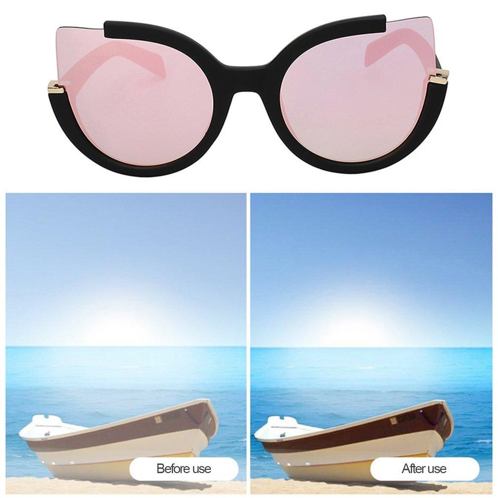 Fashion Cat Eyes Sunglasses Vintage Style Eyewear PC Frame Resin Lens UV400 Summer Travel Sunglasses for Women