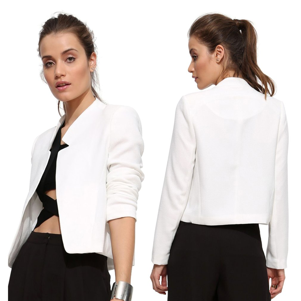 Ultra-slim Leisure Short Jacket Stand Collar Small Suit Outerwear Coat Female
