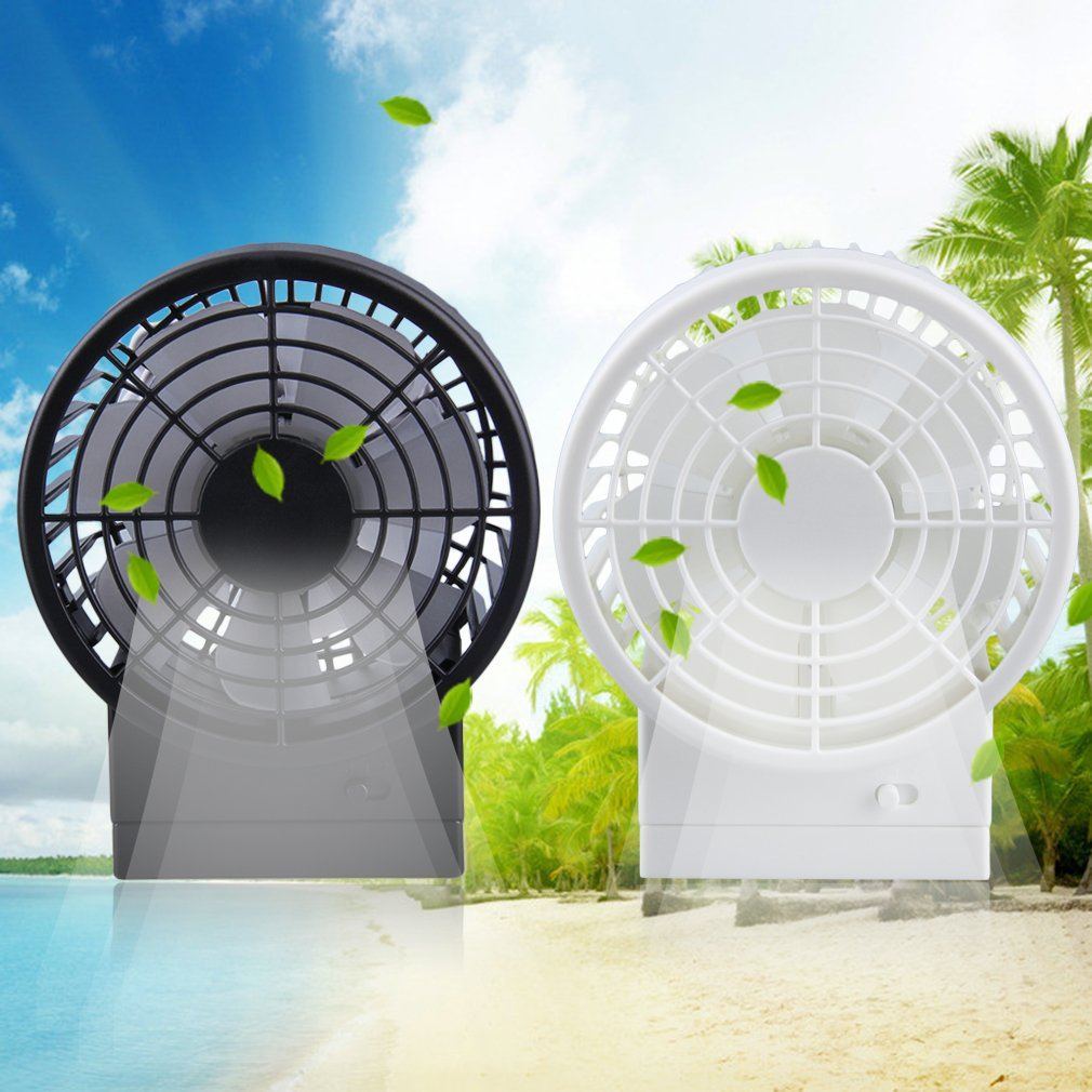 New Rechargeable USB Desk Portable Fan Handheld Travel Blower Air Cooler