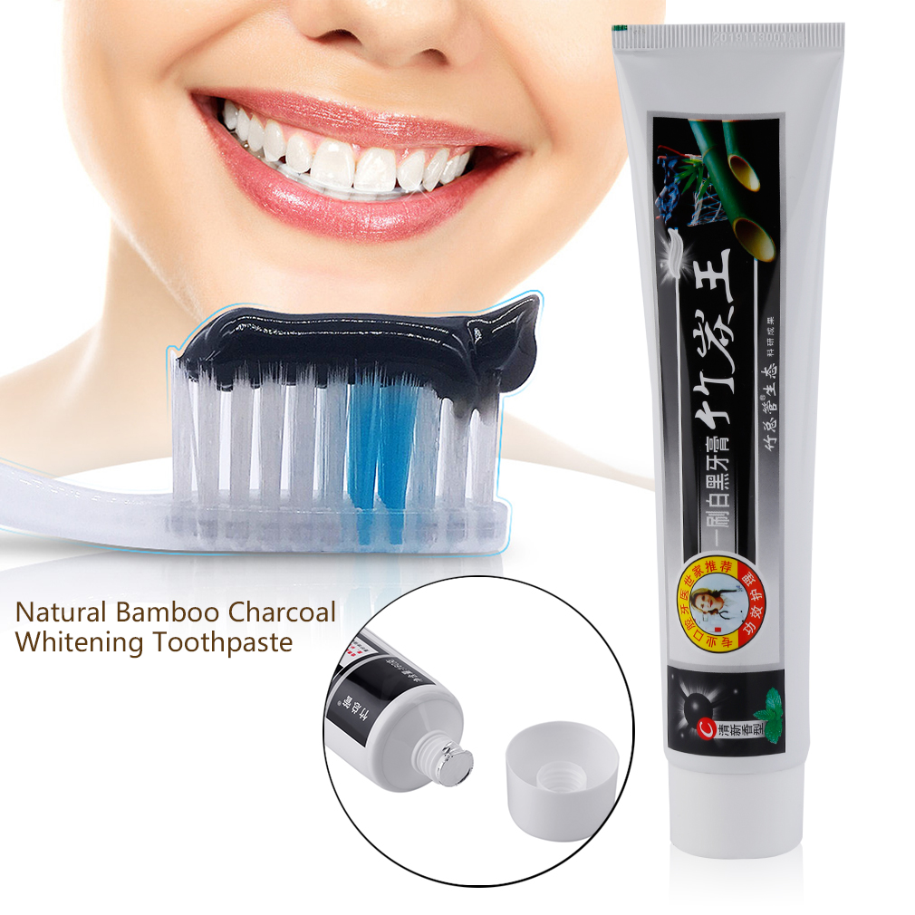 160G Natural Bamboo Charcoal Whitening Remove Smoke Stain Oral Care Toothpaste