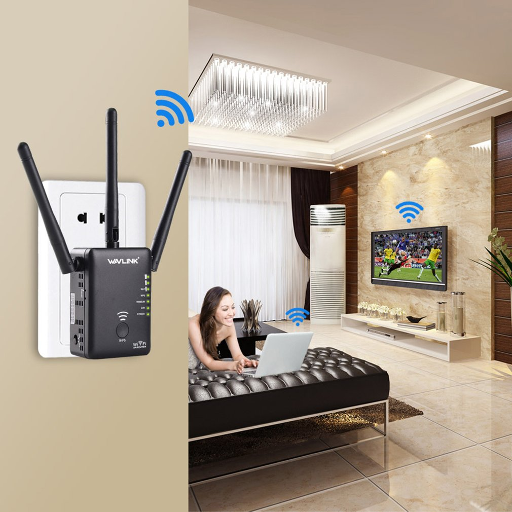 WavlinkWL-WN575A2 750Mbps WPS Button 3 Aerials Repeater AC750 Wifi Router
