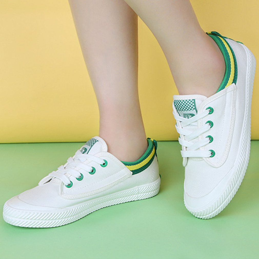 35-39 Size RenBen Women Casual Summer Style Flat Shoes Canvas Leisure Shoes