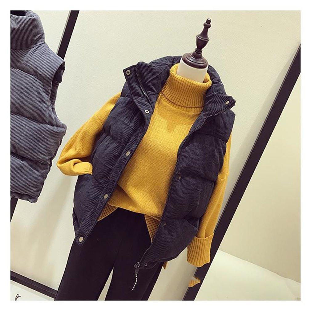 Girls Loose Short Cotton Vest Autumn Winter Sleeveless Corduroy Waistcoat