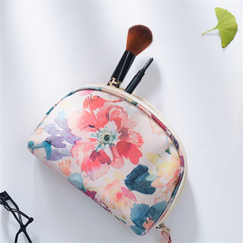 Half Moon Cosmetic Bag Cosmetic Case Carry-on Bag Zipper Shell Bag Beauty Bag