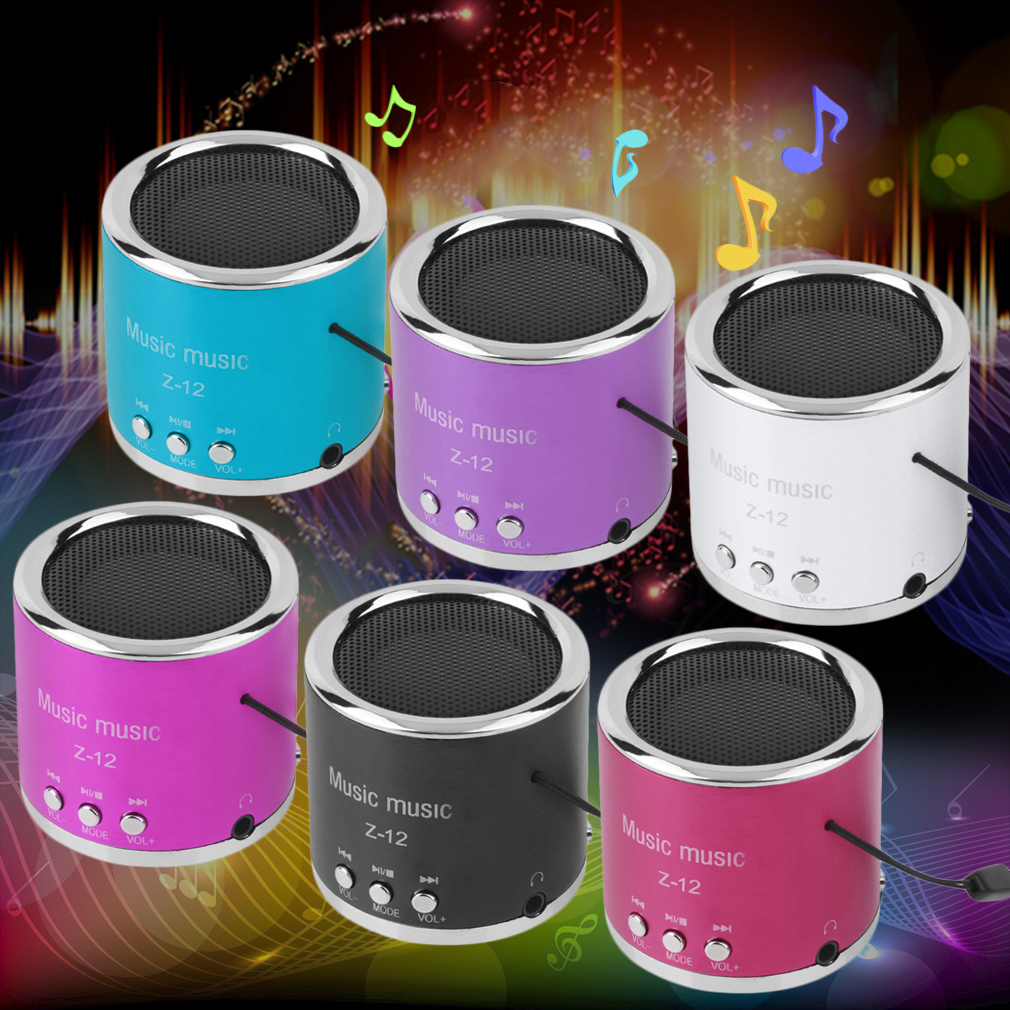 Mini Rechargeable Portable Speakers Support TF Card For Phone Tablet Handfree Wired FM Radio TF Card MP3 Player Speakers