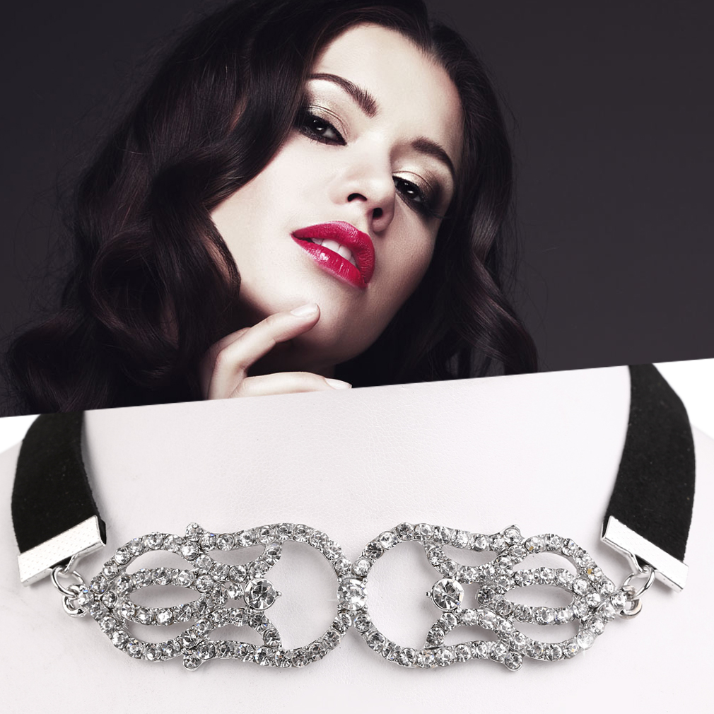 Vintage Women Diamond Plated Necklace Multi-Layer All Match Clothes Necklace
