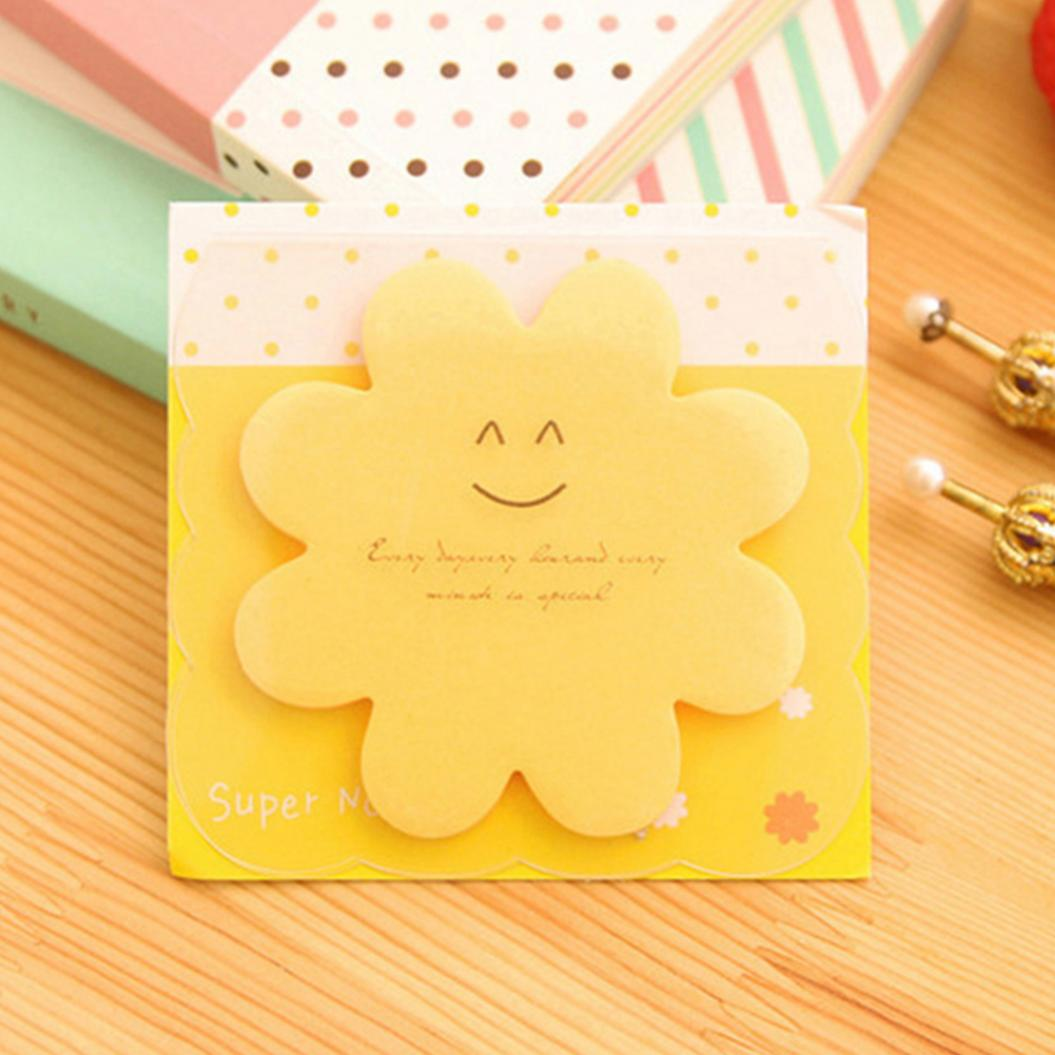 Flower Star Heart Shape Memo Pad Sticky Note Sticker Office School Stationery
