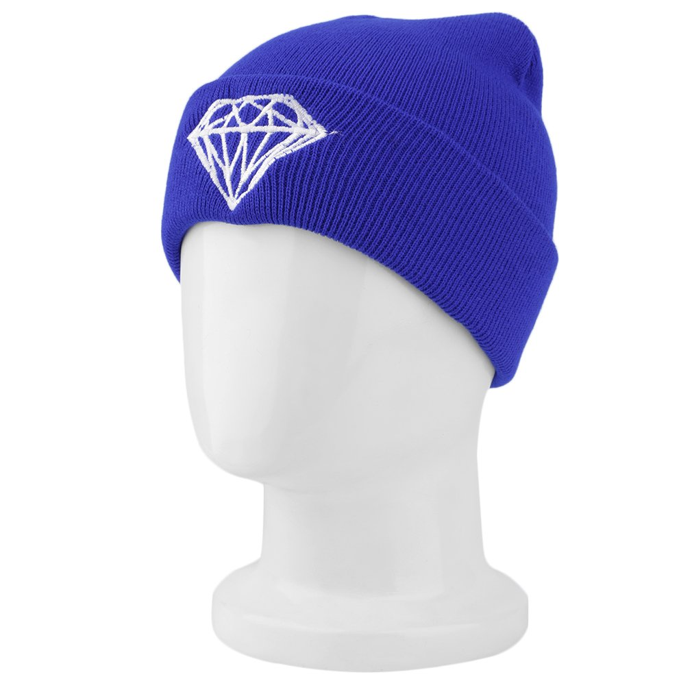 Women Men Crown Warm Hip Hop Hat Wool Knitted Hat Ski Beanie Crochet Cap