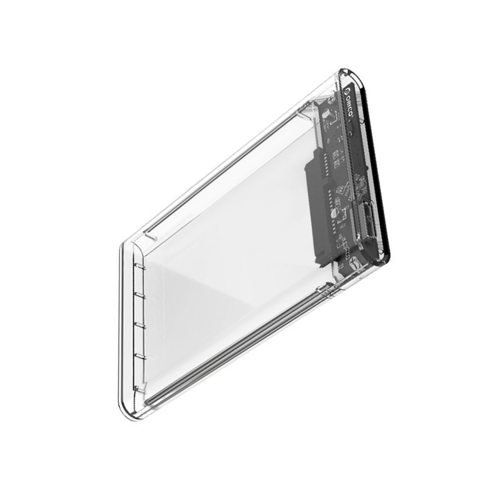 Hard Drive Enclosure Case 2.5 inch Transparent USB3.0 to Sata 3.0 HDD Case