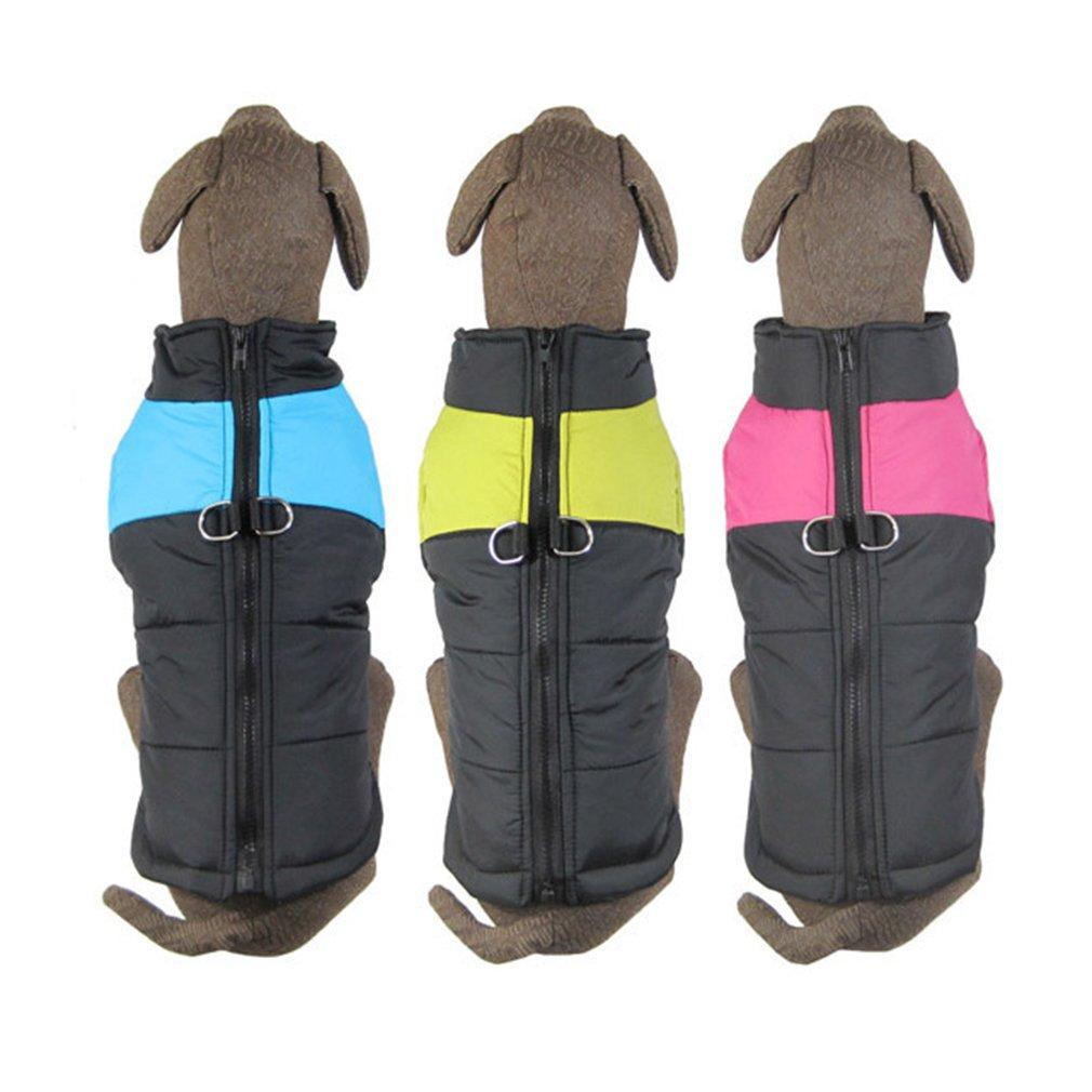 Waterproof Pet Big Dog Clothes Winter Warm Vest Jacket Coat Outwear Size S M