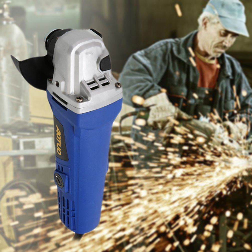Electric Angle Grinder Heavy Duty Cutting 12000RPM 100mm 220V 980W With Wrench