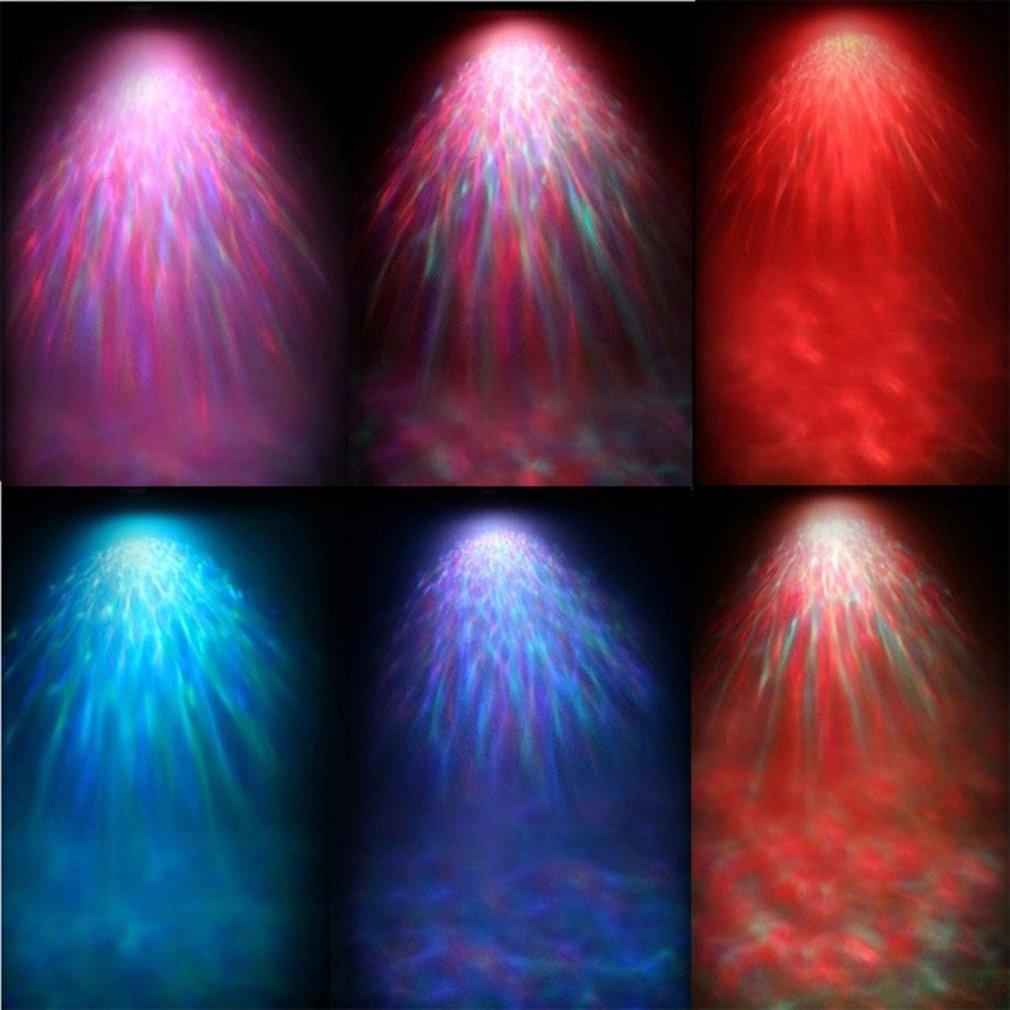 Romantic Colorful Ocean Wave Light USB Projector MP3 Speaker LED Night Lamp