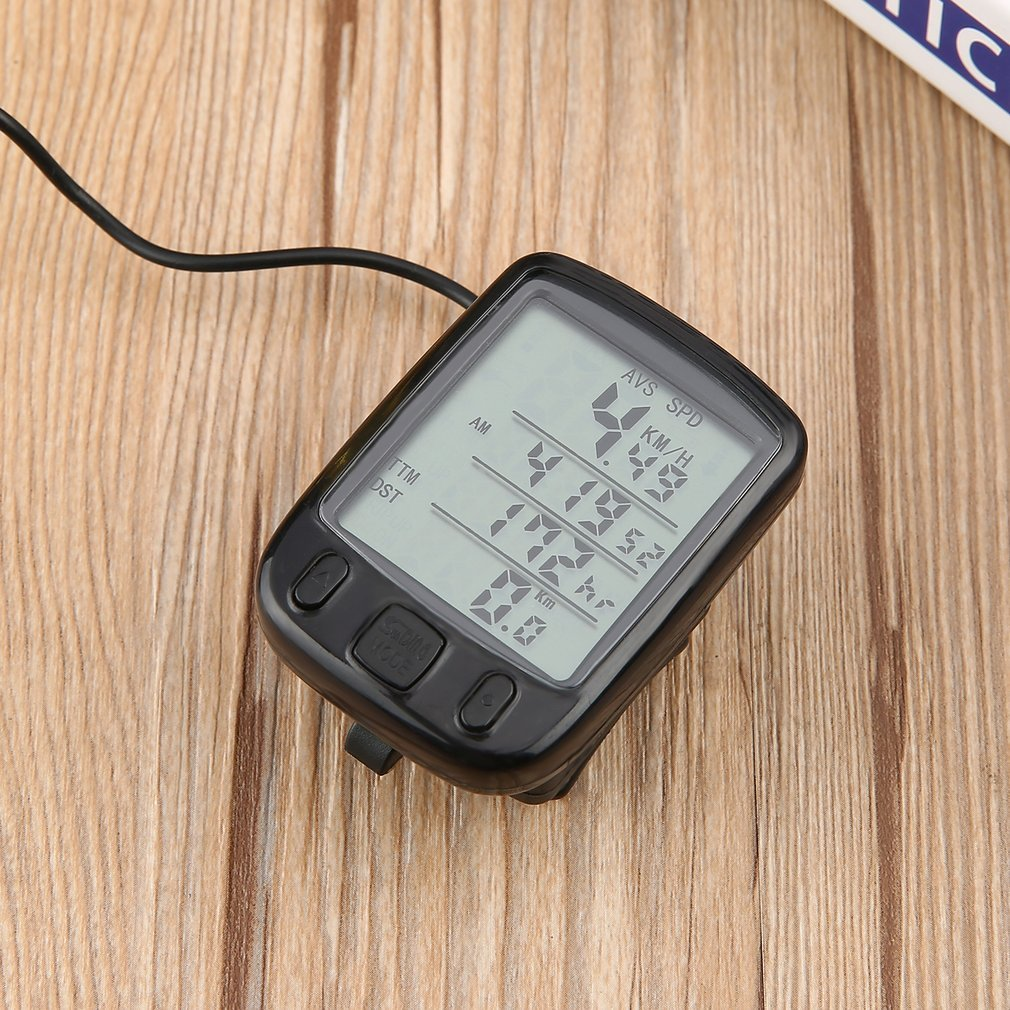 SUNDING SD-563A Wired Multifunctional Bicycle Computer Mini Odometer Stopwatch