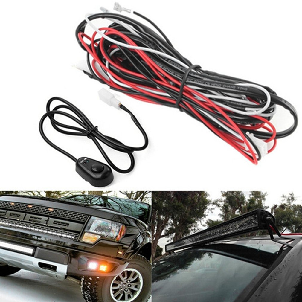 Auto Car LED Light Controller Relay Harness On/Off Switch Fog Light Controller