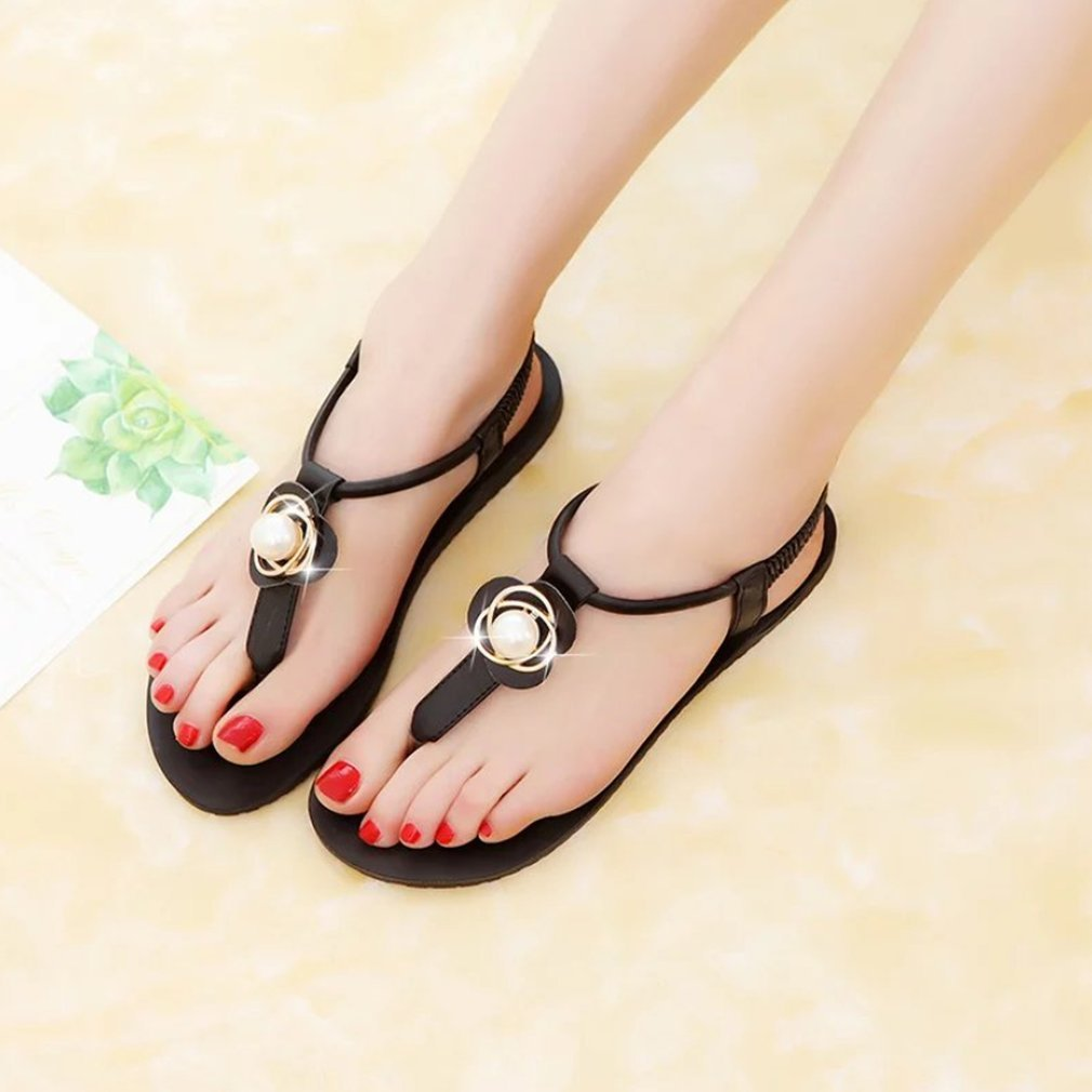 Fashion Summer Women Sandals Shoes Flip Flops Shoes Flat Heel Beach Sandals Ladies Comfortable Casual Anti-slip Shoes