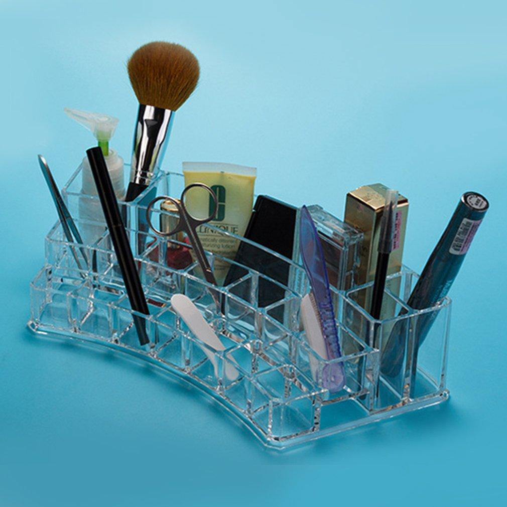 Nail Polish Cosmetic Brush Pen Storage Box Case Holder Organizer Display New