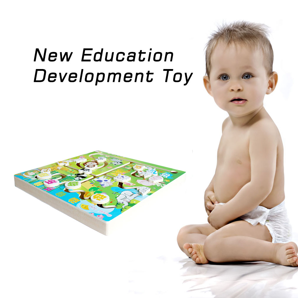 New Animal Colour Maze Wood Education Development Toy Game Gift