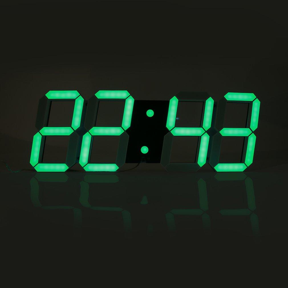 Digital LED Hollow Stereo Clock Wall Clock Modern Decoration Light Timer
