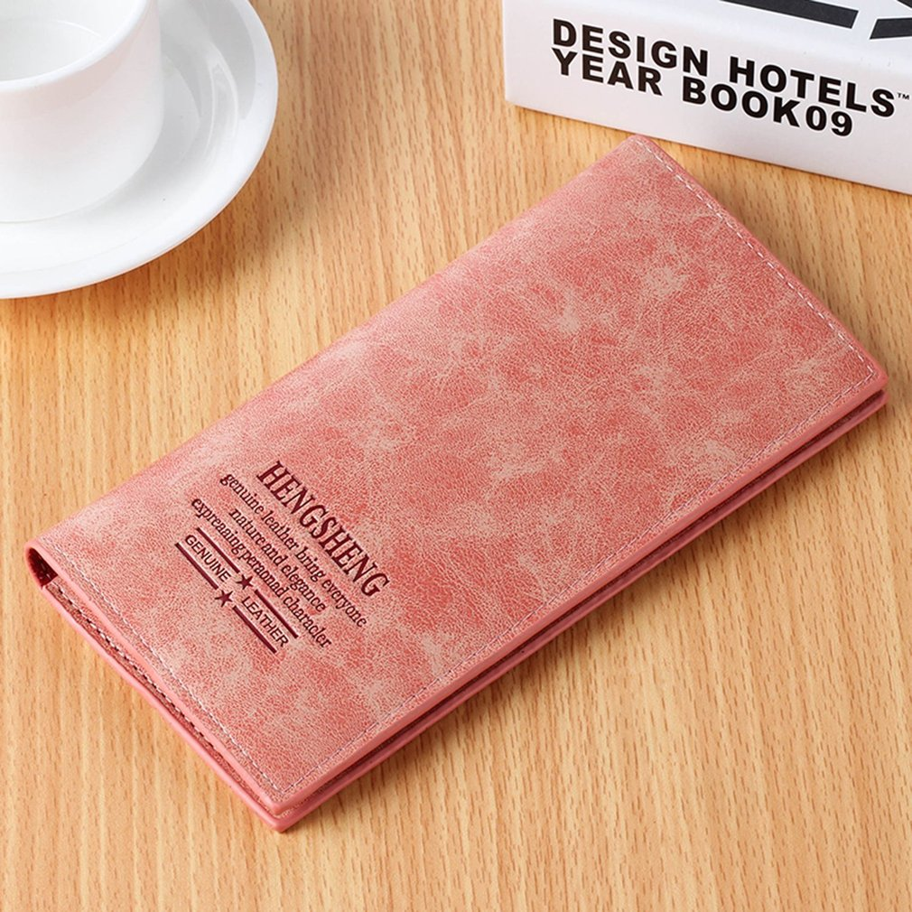 Women's Three Fold Soft PU Leather Long Wallet
