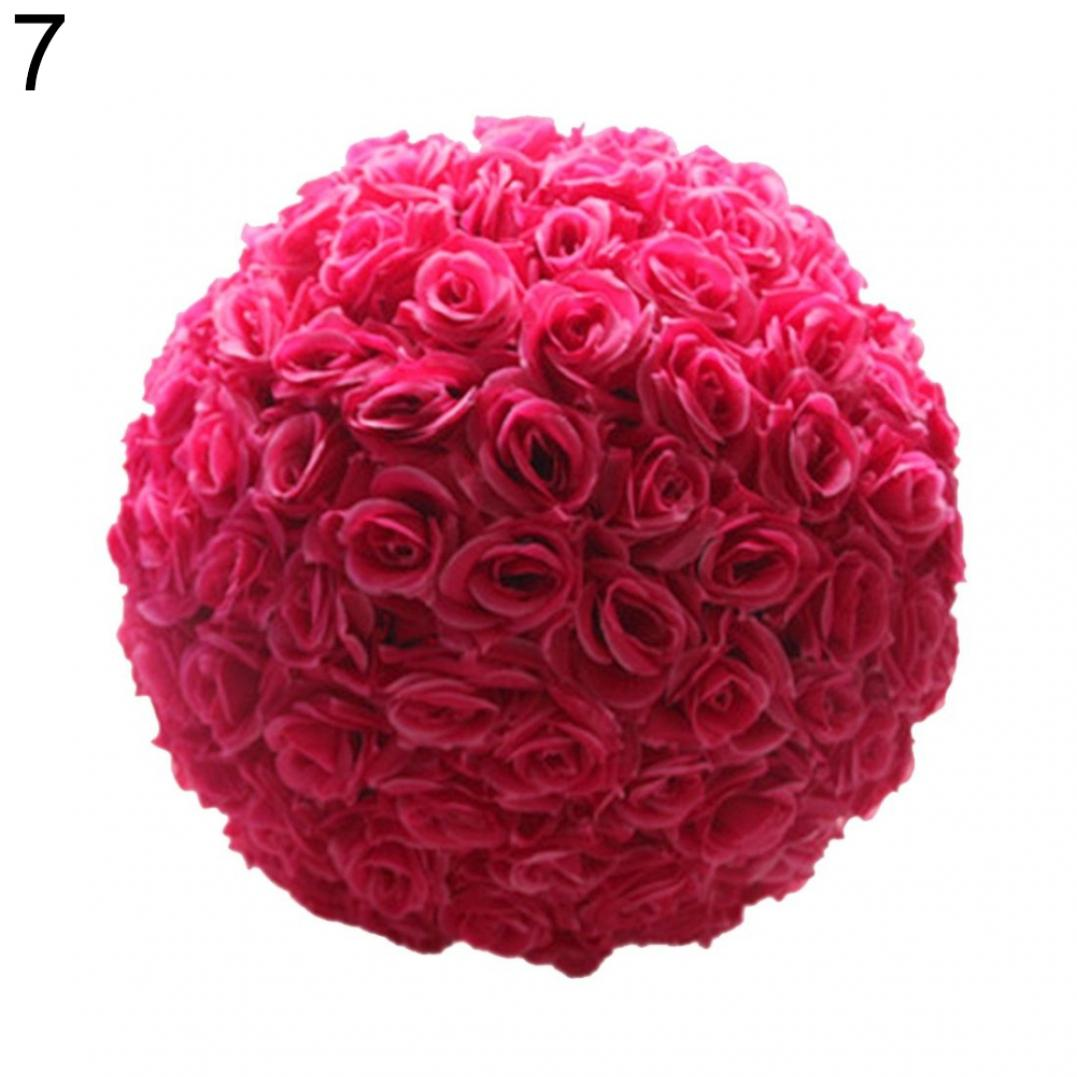 8 Inch Wedding Artificial Rose Silk Flower Ball Hanging Decoration Centerpiece
