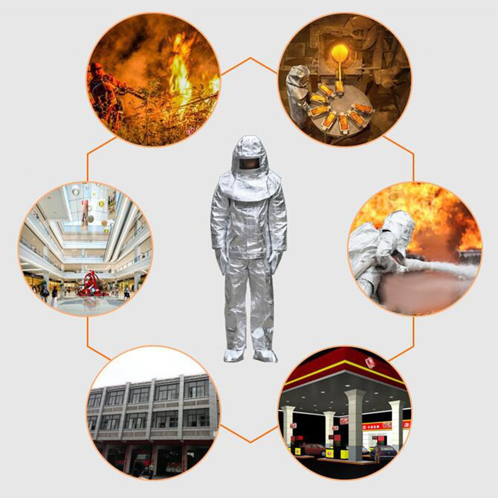 Aluminum Foil Fire Protected Clothes Thermal Insulation Clothing Full Set