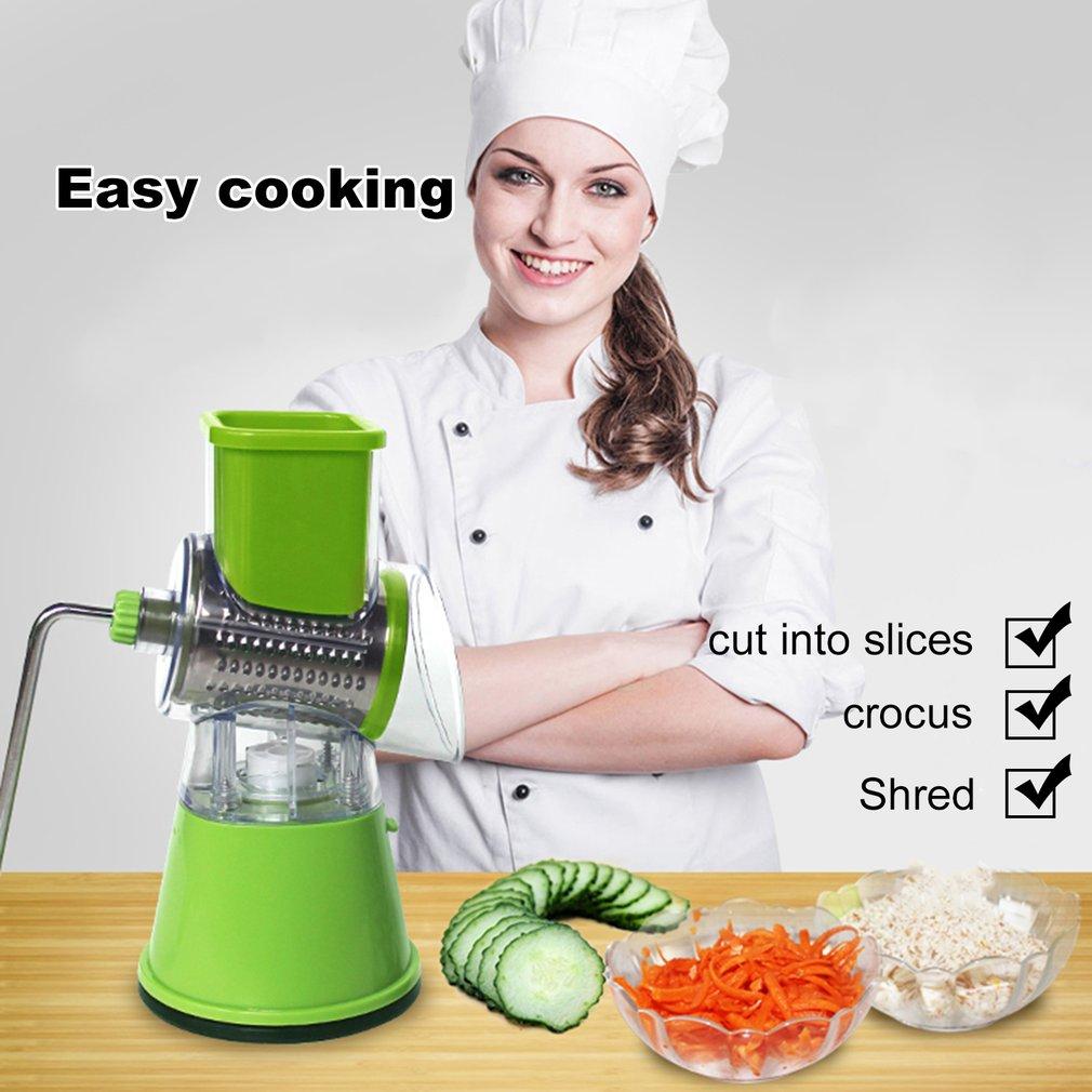Multi-function Vegetables Fruit Cutter Manual Drum Slicer Shredders Grinder
