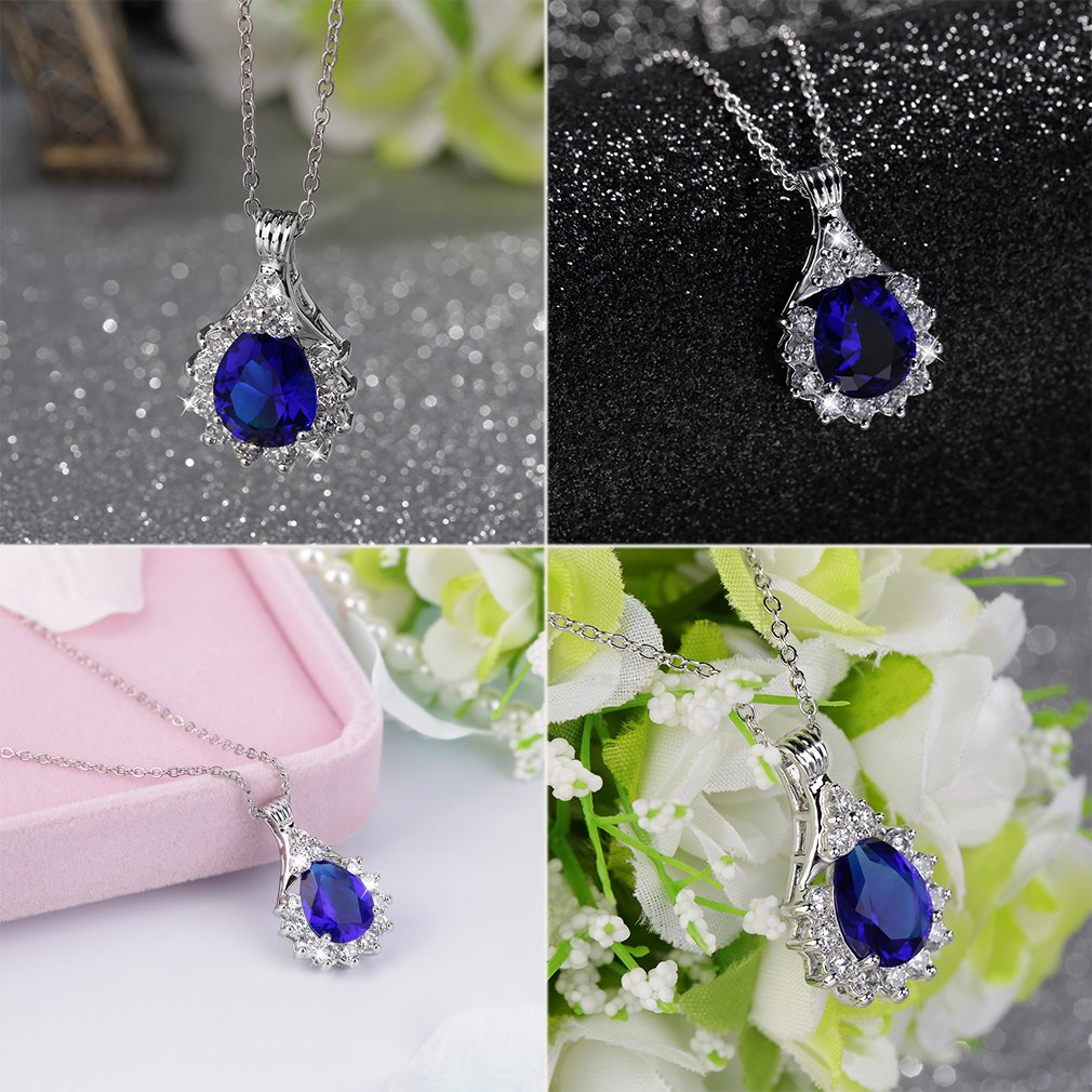 Fashion Charm Jewelry Crystal Pendant Chain Necklace Party Jewelry Gift
