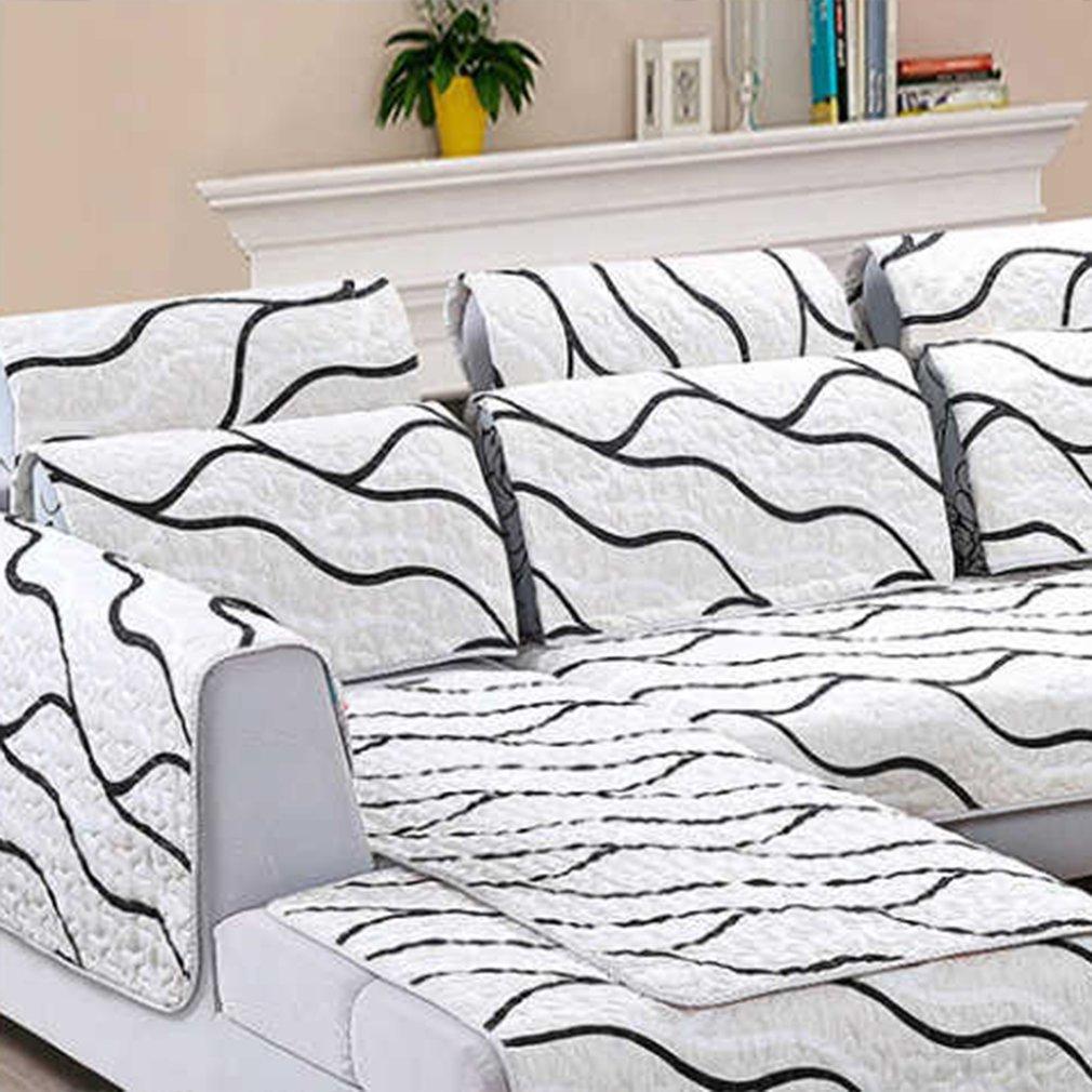 Anti-dust Sofa Covers Set Non-slip Reversible Double Sided Sofa Slipcovers