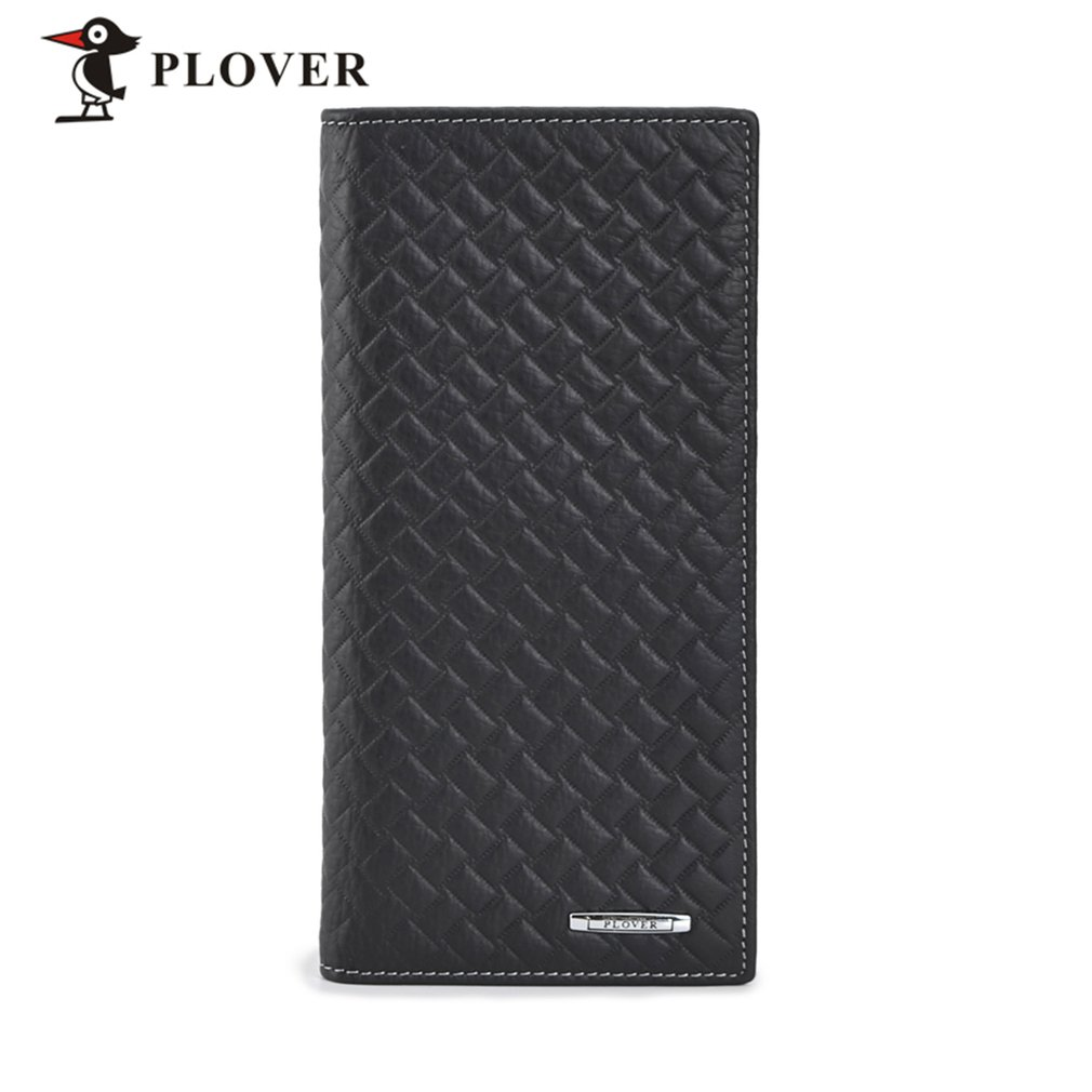 PLOVER GD5907-8A Cow Leather Business Long Slim Wallet Credit Crad Holder