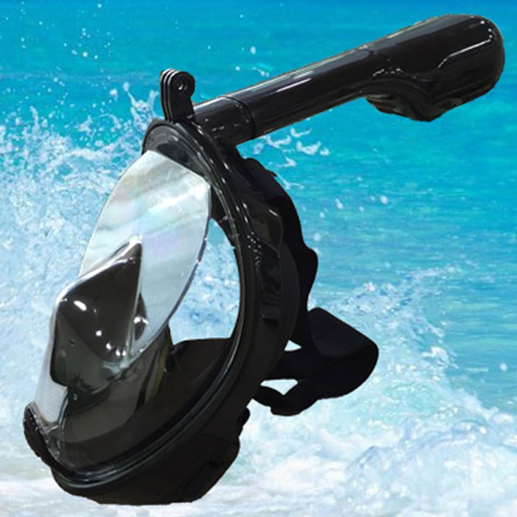 Hot Breath Full Face Mask Surface Diving Snorkel Scuba for GoPro (L/XL)