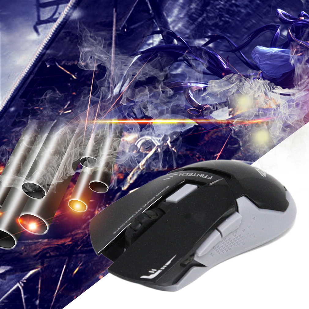 New Cool WG8 6 Button 6D Wireless 2000DPI Gaming Mouse High Quality